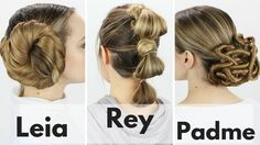 Here's a hair tutorial on 3 iconic Star Wars hairstyles! You've seen these on Leia, Padme, and Rey; now you can learn to do them on yourself! I think the sty...