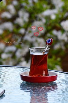 Turkish tea, backyard, happy evenings