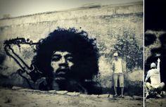 JimiHendrix #StreetArt  by Victor Cavalera