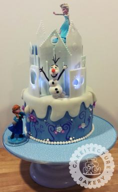 """Awesome """"Frozen"""" cake I made for a little girl's party!"""