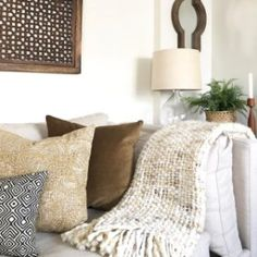 Handwoven by skilled artisans, our Marled Basketweave Throw gets its chunky texture from a soft mix of knits. Multi-hued and extra cozy, we can't decide where we like it better—on the bed, the sofa, the reading nook… Basket Weaving, Hand Weaving, Reading Nook, West Elm, Sofa, Throw Pillows, Living Room, Bed, Hand Knitting