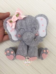 Elephant Personalized Decor for Boys Nursery, inch Embroidery Hoop with Baby Elephant Baby Shawer, Felt Baby, Elephant Balloon, Baby Elephant, Baby Crafts, Felt Crafts, Girl Baby Shower Decorations, Felt Toys, Felt Ornaments