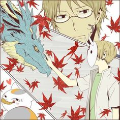 A typical day Cool Anime Guys, All Anime, Me Me Me Anime, Manga Anime, Emotional Movies, Natsume Takashi, Hotarubi No Mori, Natsume Yuujinchou, Anime Nerd