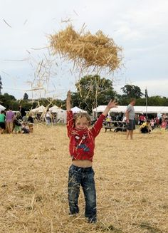 This is our 5-year-old boy at The Big Feastival, where we had the most magical day out in a long, long time. The kids all loved the many things put on especially for them, but our son's favourite was this massive pile of hay :)  Read our feature on The Big Feastival here: http://www.cotswoldsconcierge.co.uk/the-big-feastival.htm #Cotswold #Cotswolds