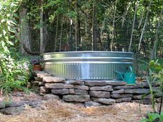 My next pool is going to be a big metal stock tank.