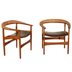 Pair of Arne Hovmand-Olsen Armchairs | From a unique collection of antique and modern armchairs at https://www.1stdibs.com/furniture/seating/armchairs/