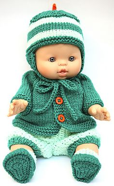 Ravelry: Cataddict's I Saw A Spacecraft - Diy Crafts Baby Born Clothes, Bitty Baby Clothes, Girl Doll Clothes, Knitted Doll Patterns, Knitted Dolls, Baby Knitting Patterns, Baby Clothes Patterns, Baby Patterns, Small Baby Dolls