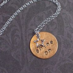 Shine On Hand Stamped Necklace, Stamped Jewelry, First Class Stamp, Girls Camp, Southern Style, Metal Stamping, Young Women, Beaded Jewelry, Jewlery