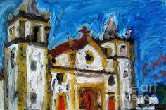 Igreja Da Se De Olinda Painting by Greg Mason Burns - Igreja Da Se De Olinda Fine Art Prints and Posters for Sale