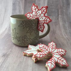 Coffee cup sugar cookies