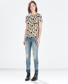 Low Rise Skinny Jeans, Zara United States, Zara Women, Hair Beauty, Clothes For Women, Denim, Blouse, How To Wear, Image