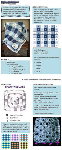 Simple granny square crochet pattern