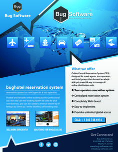 Online Central Reservation System (CRS) designed for travel agents, tour operators and hotel groups that demand an adaptable yet powerful way to manage all online distribution needs.