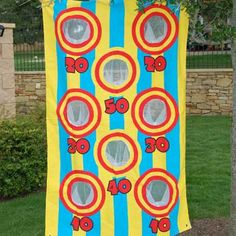 Bean Bag Toss game. Super cheap and easy to make