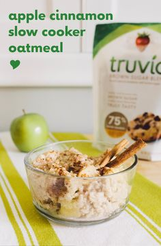 Breakfast just got easier with our Slow Cooker Apple Cinnamon Oatmeal ...