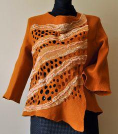 blog o rękodziełach, ficu artystycznym, felt, filc, scarf, handmade craft