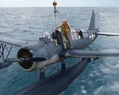 Navy OS-2U Kingfisher scout plane WWII