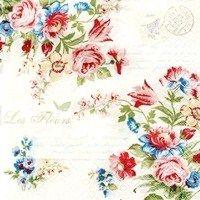 0523 Servilleta decorada flores