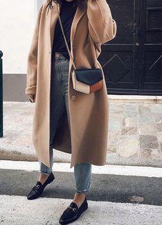 New Womens Fashion Casual Fall Outfits Jeans Camel Coat 70 Ideas Fashion Moda, Look Fashion, Womens Fashion, Fall Fashion, Unique Fashion, Runway Fashion, High Fashion, Mode Outfits, Fashion Outfits