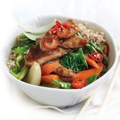Five-spice chicken and vegie stir-fry