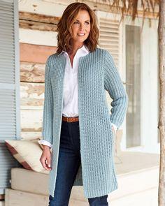 Crochet Coat, Crochet Cardigan Pattern, Crochet Jacket, Crochet Clothes, Knitted Coat Pattern, Crochet Granny, Cable Cardigan, Longline Cardigan, Long Cardigan