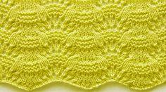 Wavy Knit Stitch Pattern
