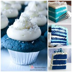 Blue Velvet, one of my favorite colors :) Just Desserts, Dessert Recipes, Blue Velvet Cakes, Good Food, Yummy Food, Cute Cupcakes, Shop Ideas, Let Them Eat Cake, 4th Birthday