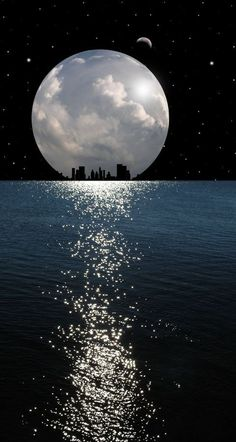 Worries are disappear when we see moonlight