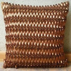 Rustic Rust - Throw Pillow Covers - Silk Pillow Cover with 3D Metallic Leather Tapes :     Price: $22.99    .Customer Discussions and Customer Reviews.Check Price >> http://gethotprice.com/appin/?t=B004NPRWXG