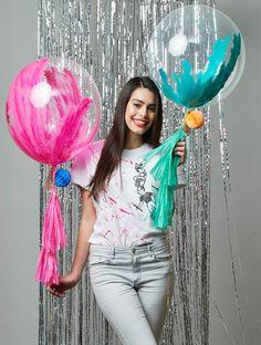 29th Birthday Parties, 1st Birthday Balloons, Happy Birthday Girls, Little Mermaid Birthday, Bubble Balloons, Large Balloons, Confetti Balloons, Balloon Tassel, Balloon Bouquet