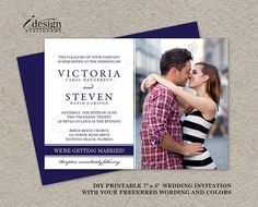 DIY Printable Photo #Wedding Invitation, Customized With Your #Engagement Photo by iDesignStationery, $12.95