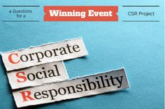 CSR is a major component of Event Planning using sustainable event management practices http://goo.gl/bd6QDX