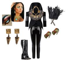 """""""Tribal futuristic Style"""" by carla1509 on Polyvore featuring moda, Roland Mouret, Marc Jacobs, Afroditi Hera, REGALROSE y Valentino"""