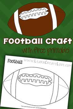 Sundays in autumn mean one thing in our home. I made this football printable for Lorelai so she could color and hang it on the fridge. She colored it red and blue for the TEXANS! Football Crafts, Football Themes, Football Snacks, Football Banquet, Sports Activities, Activities For Kids, Preschool Crafts, Crafts For Kids, Sports Theme Classroom