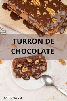 Turrón is a Spanish invention and the original recipe is a typical Christmas favourite. Peruvian chocolate is some of the best in the world and we've gone big on the chocolate aspect for this turrón recipe. Less fruit, more rich and creamier flavours. And the addition of coffee makes gives this dish a little kick. #TurronDeChocolate #PeruvianDessert #PeruvianRecipe #ChocolateNougat #PeruvianChocolate Peruvian Desserts, Peruvian Recipes, Chocolate Fudge Sauce, Chocolate Desserts, Recipe Instructions, Vegetarian Cheese, Original Recipe, Easy Desserts, Punk Rock