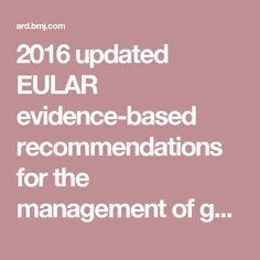 A summary of the European Gout treatment guidelines.