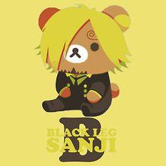 Teddy Bears One Piece | Sanji << rilakkuma Sanji XD
