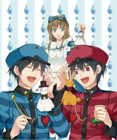 Heart no kuni no Alice official art ~ Alice and the twins! ~