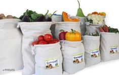 Checkout this latest product Product Name: *Attractive Multipurpose vegetable  Bags  * Material:  Cotton  Size(H x W): 15 in x 11 in  Description: It Has 12 Pieces Of Multipurpose Carry Bags Pattern: Solid Country of Origin: India Easy Returns Available In Case Of Any Issue   Catalog Rating: ★4.2 (368)  Catalog Name: Basic Essential Cotton Bags Vol 12 CatalogID_835211 C130-SC1642 Code: 242-5582452-996