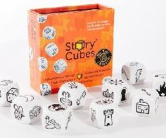 Rory's Story Cubes® Awarded the Dr. Toy's Best Games' award, the original Rory's Story Cubes® game contains nine cubes with iconic images to spark the imagination. Story Cubes, Cube Games, Cube Toy, Vision Therapy, Art Therapy, Visual Memory, Cube Puzzle, Boggle, Creative Thinking