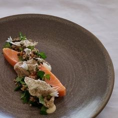 Try our delicious Slow cooked Huon Salmon, farro, sea herbs, leek aioli recipe prepared with Huon Aquaculture products.
