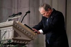 From lighthearted anecdotes to heart-wrenching memories, here's a look at the most powerful quotes and stories told about the former president during his funeral.