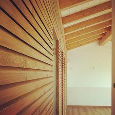 Parete ventilata in abete bio  #airquality #greenhouse #vallestronaenergyhouse