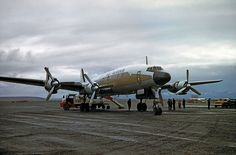 Alaska Airlines Lockheed Constellation in Unalakleet, Alaska, 31 August Alaska Airlines, Constellations, Fighter Jets, Aviation, Aircraft, Canada, History, Classic, Vehicles