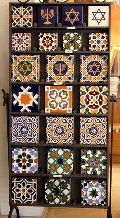 Tiles, Toledo, Spain