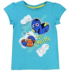 Sizes 2T 3T 4T Made From 100% Cotton Label Disney Pixar Finding Dory Officially Licensed Disney Finding Dory Girls T Shirt Free Shipping #FindingDory