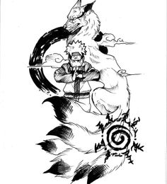 Find the tattoo artist and the perfect inspiration to get your tattoo. - Drawing created by João Pedro Mendes (mendesjp) from Uberlândia. Manga Tattoo, Anime Tattoos, Tattoo Drawings, Naruto Sketch, Naruto Drawings, Kurama Naruto, Anime Naruto, Tatoo Naruto, Mini Tattoos