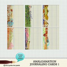amalgamation - journaling cards 1 by Polka Dot Pixels - Two Peas in a Bucket