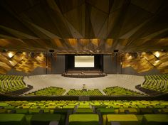 Those multi coloured green seats!  Melbourne Convention Center amphitheater stage