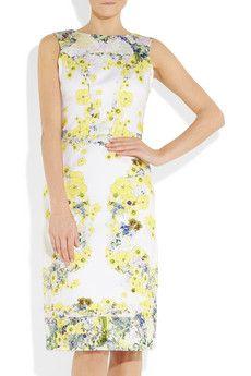 ERDEM  Marlena floral-print cotton-sateen dress